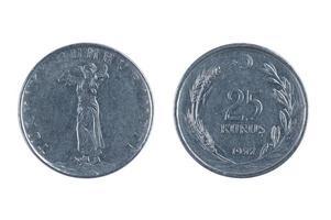 moneda de Turquía kurus foto