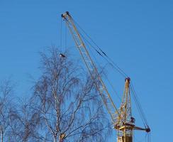 grúa de construcción foto