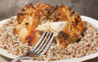 Chicken breast stuffed with vegetables