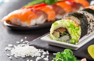 Japanese seafood sushi set
