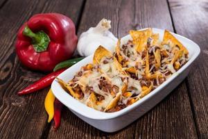 nachos gratinados con queso foto
