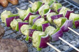 Lime, Mint & Coriander Chicken Kebabs