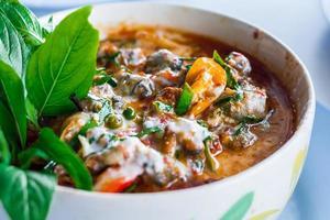 curry tailandés - imagen de stock foto