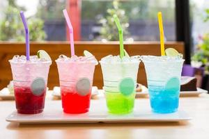 colorful italian soda beverage