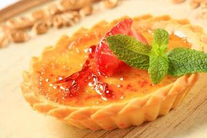 Creme brulee tartlet photo