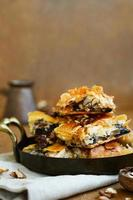 Baklava - oriental sweet with honey, walnut and raisin
