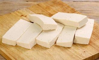 sliced uncooked tofu photo