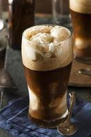 flotador de cerveza negra y fuerte congelada