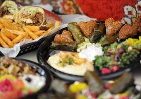foco refeição mediterrânica
