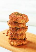 Fried vegetable burgers photo