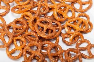 salted pretzels photo