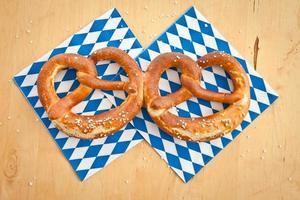 Salty bavarian pretzels photo