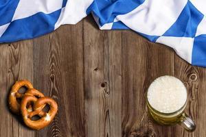 Bavarian flag as a background for Oktoberfest photo