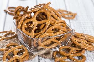 porción de pretzels pequeños