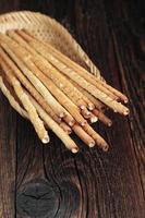 Salty bread sticks photo