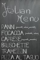 menu do bar italiano
