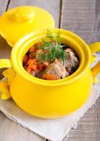 Meat and carrot stew photo