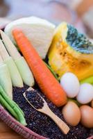 clean food,vegetables set , on wooden table