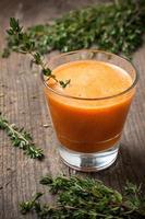 calabaza y zanahoria fresca foto
