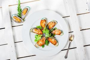 Mussels with parmesan
