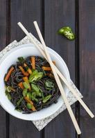 Black rice noodles