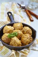 Meatballs with riceand vegetable