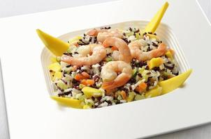 White and Red Rice salad