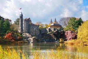 castillo belvedere del parque central de la ciudad de nueva york