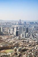 paesaggio urbano del centro di Seoul.