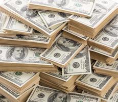 Heap of dollars photo