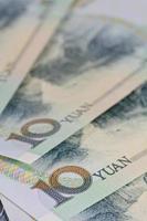 notas de yuan chinês (renminbi) por dinheiro e negócios conce