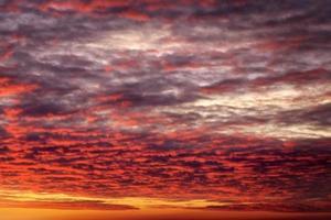ardiente naranja puesta de sol cielo.