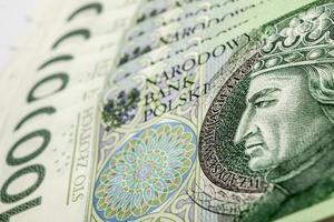 billete de banco 100 pln