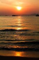 sunset boat in Thailand. photo