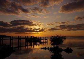 puesta de sol en key largo foto