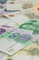 chinese  banknotes for background photo