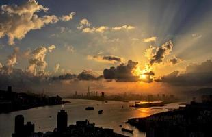 Victoria Harbour at Sunset photo