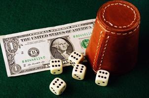 dice cup dollar photo