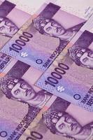 notas de rúpia diferentes da Indonésia