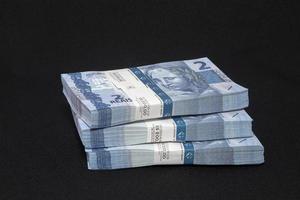 Brazilian money on the table