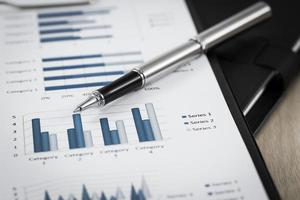 Showing business and financial report photo