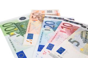 Euro banknotes closeup photo