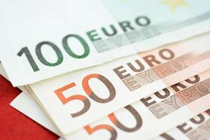 Money, Euro currency (EUR) banknotes photo