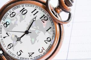 money, time and globalization concept