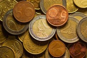 Euro coins money. Macro background.