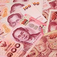 het geldbankbiljet van Thailand voor achtergrond
