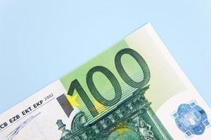 Billete de 100 euros foto