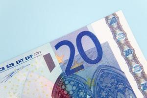 Billete de 20 euros foto