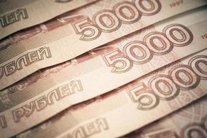 Background of russian rubles.