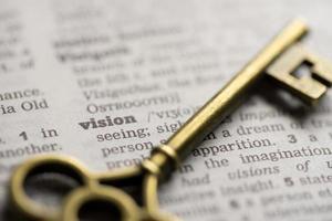Business success, teamwork key concept vision photo